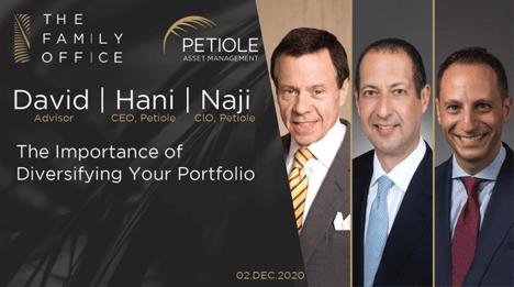 The Importance of Diversifying your Portfolio | David Darst, Hani Abuali, and Naji Nehme