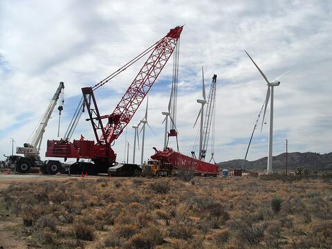 Job Photo 2 - Turbines and Crane