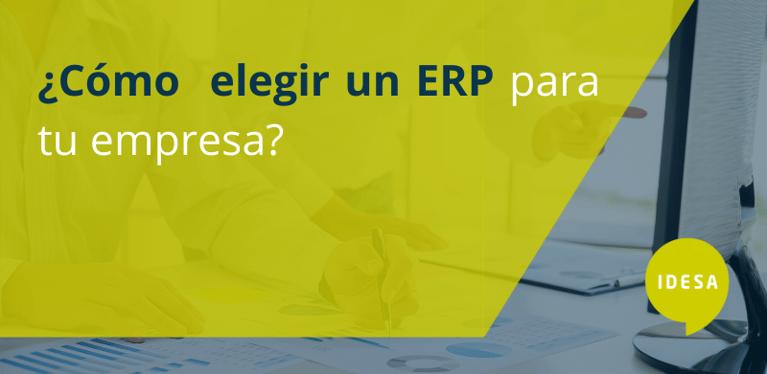 ¿Cómo elegir un ERP para tu empresa?