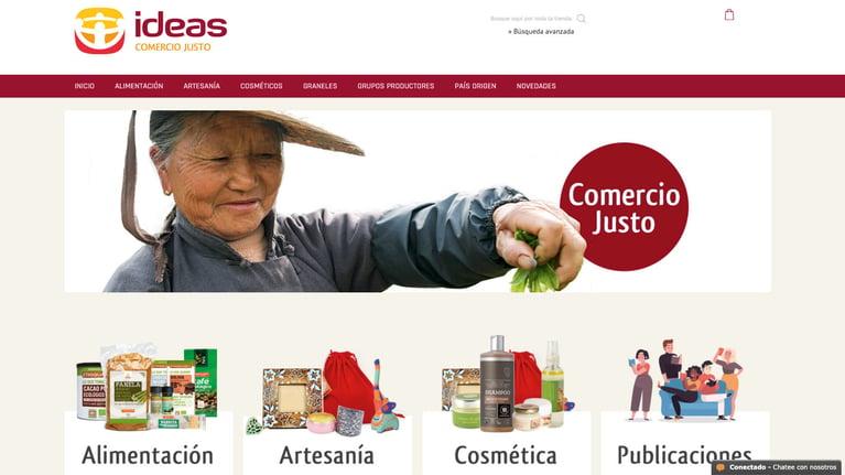 Nueva tienda online de IDEAS Comercio Justo