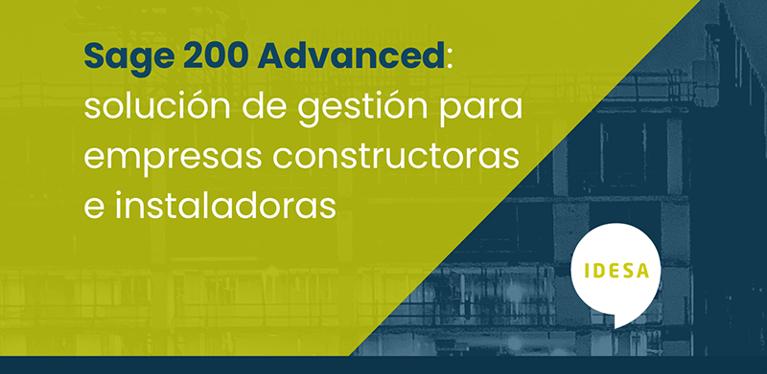 Sage 200 Advanced, solución de gestión para empresas constructoras e instaladoras