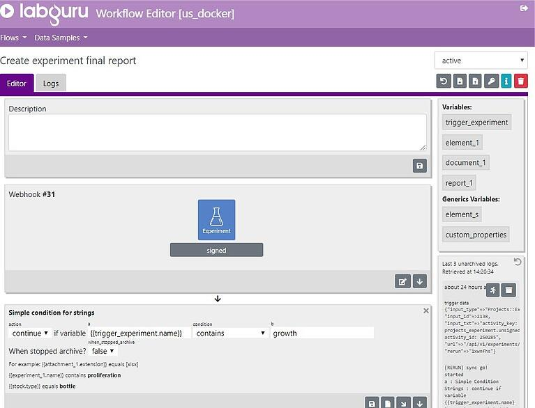 Introducing Labguru Workflow Editor