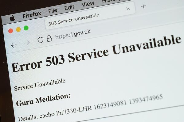 GOV.UK government services portal suffers outage
