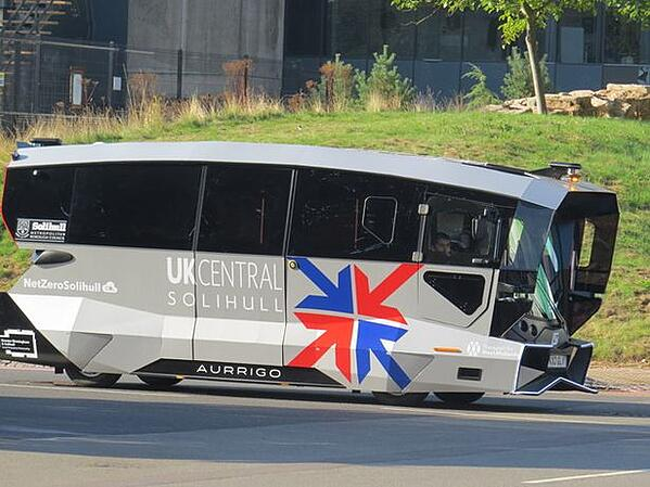 Solihull trials electric, driverless public transport