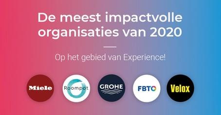 De meest impactvolle organisaties op het gebied van Experience in 2020!