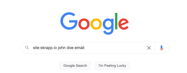 Email Lookup Google Example