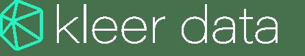 Kleer Data Logo - Large Format - White Letters