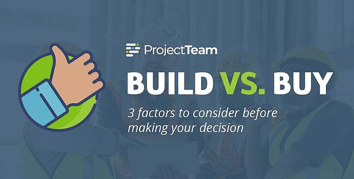 [Infographic] Build vs. Buy Construction Software