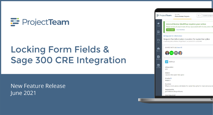 June 2021 Release Notes: Locking Fields, Integrations, Drawing Improvements