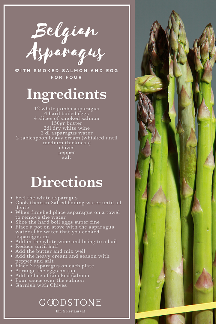 Belgian Asparagus with smoked Salmon and egg recipe