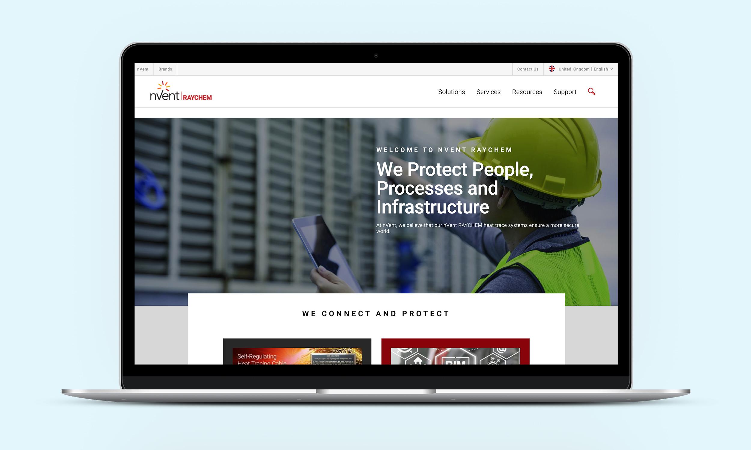 The nVent website also needed an asset overhaul