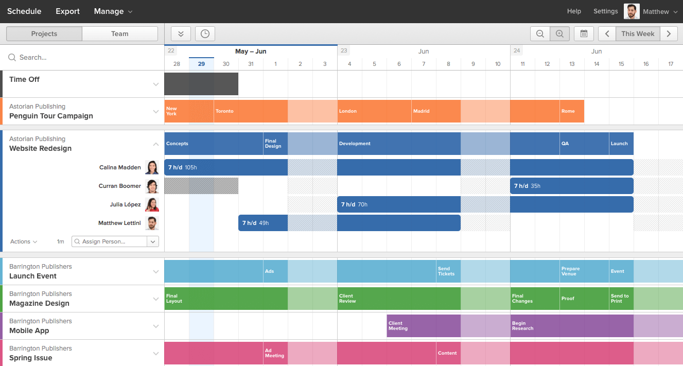 Forecast Projects View