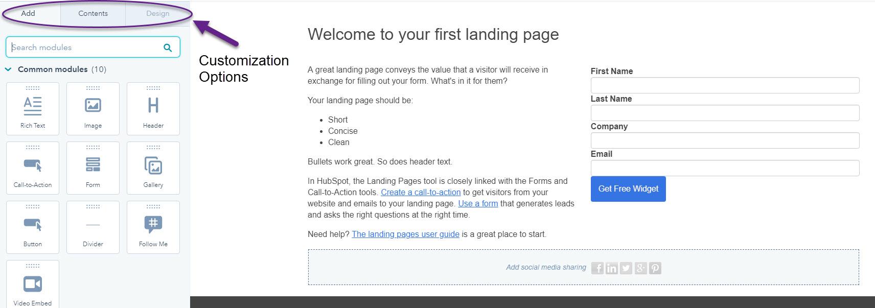 HubSpot Landing Page Creation
