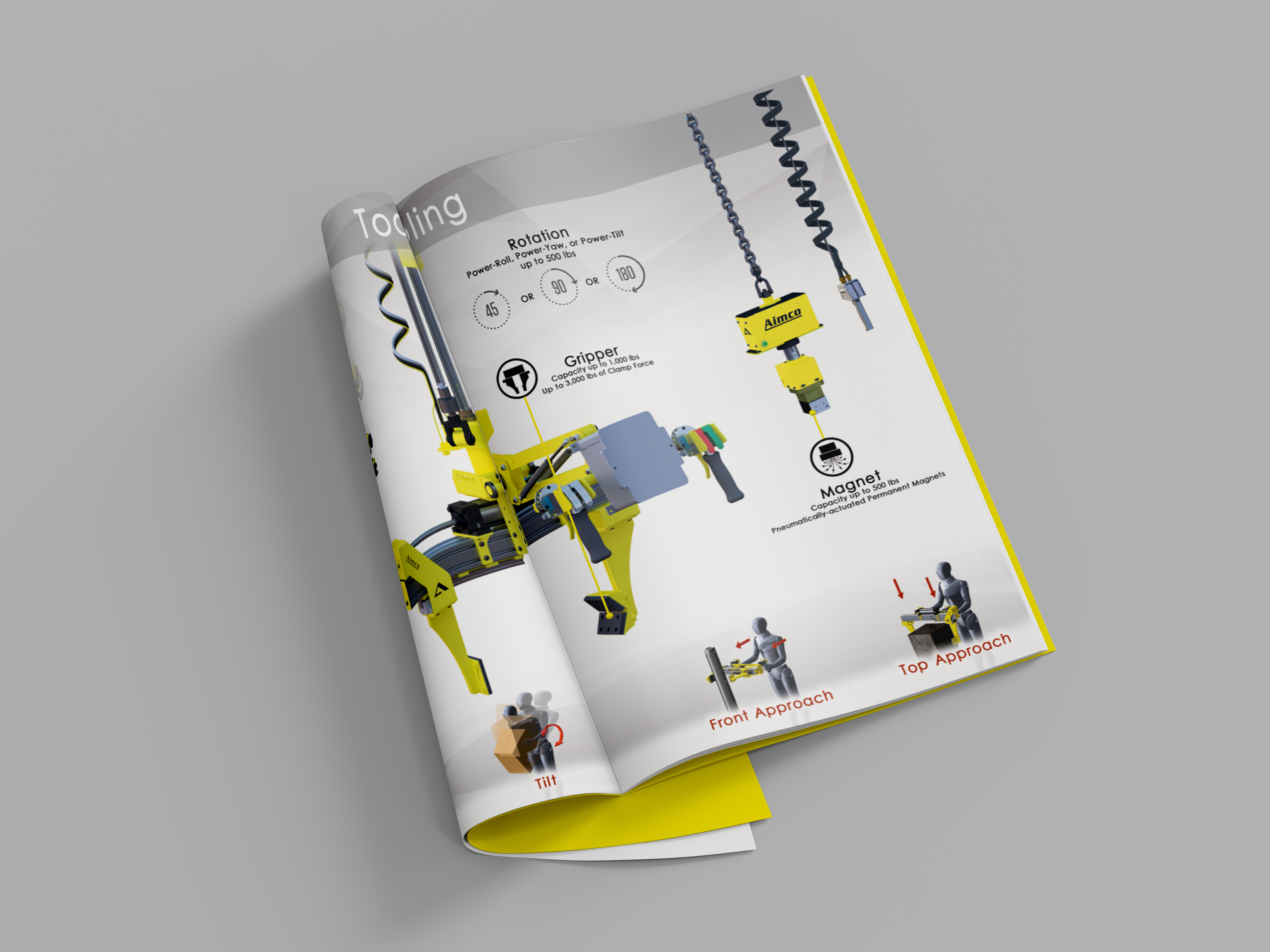 Industrial or Manufacturing Catalog Mockup on Grey Background