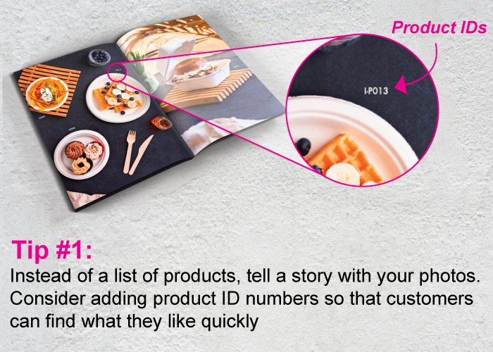 Catalog Printing Tip #1: Tell A Story and Include Product IDs