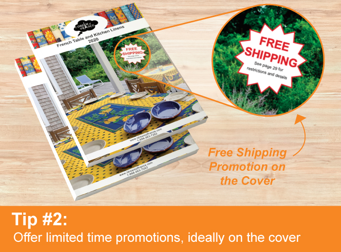 Catalog Printing Tip #2: Offer Limited Time Promotions Like Free Shipping