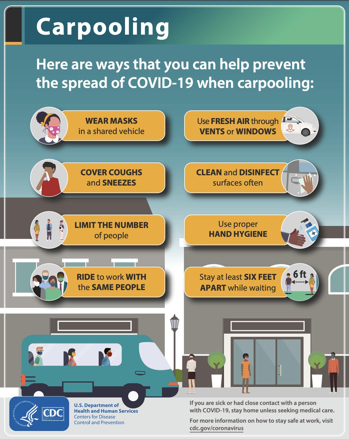 CDC carpool tips