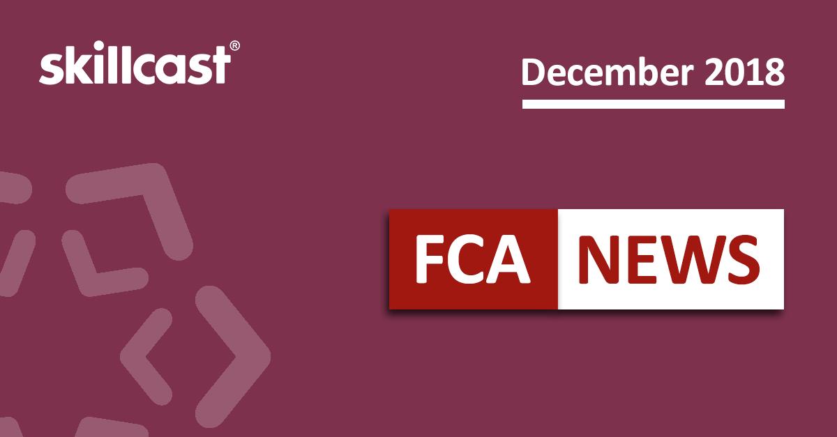 FCA Compliance News - December 2018