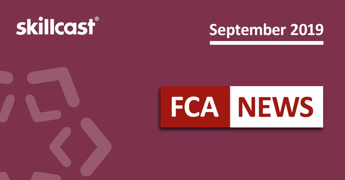 FCA Compliance News – September 2019