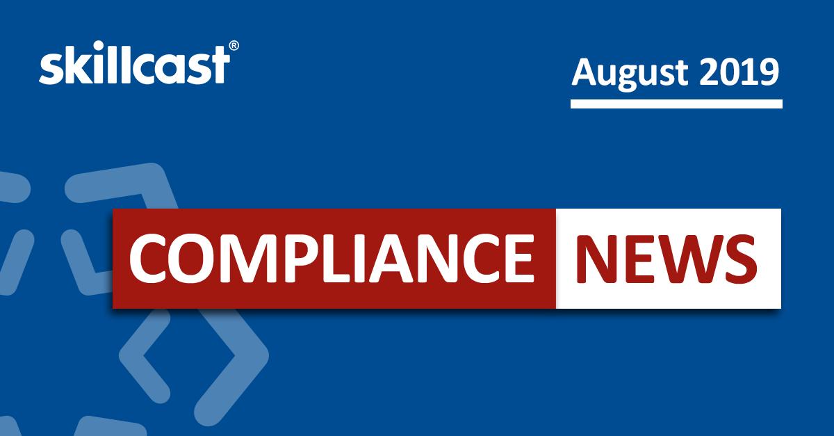 Compliance News - August 2019