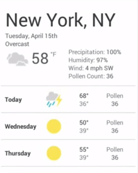 weather cell phone mobile responsive design