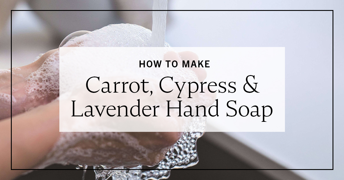 Photo of How to make carrot, cypress and lavender hand soap