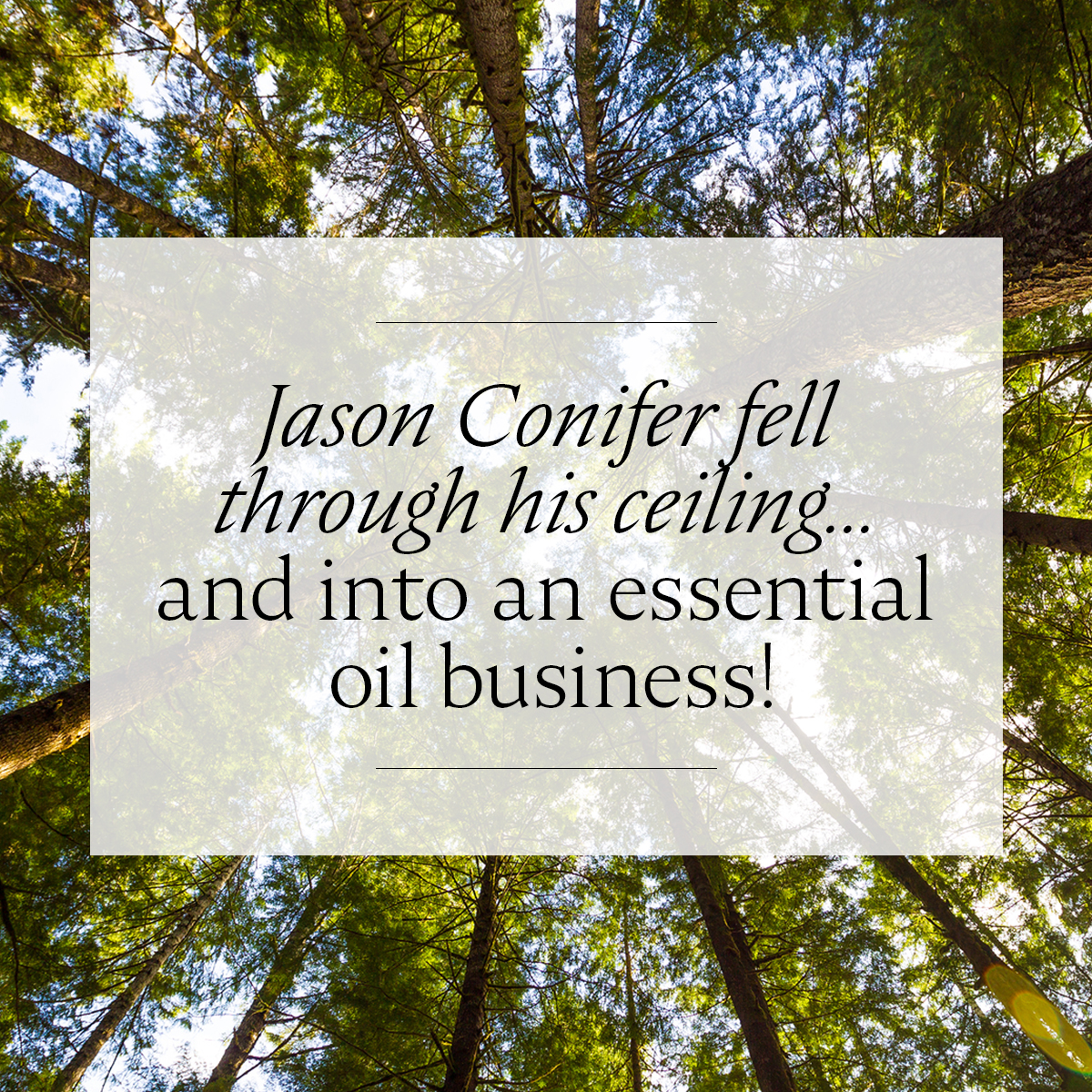 Jason Conifer fell through his ceiling... and into an essential oil business!