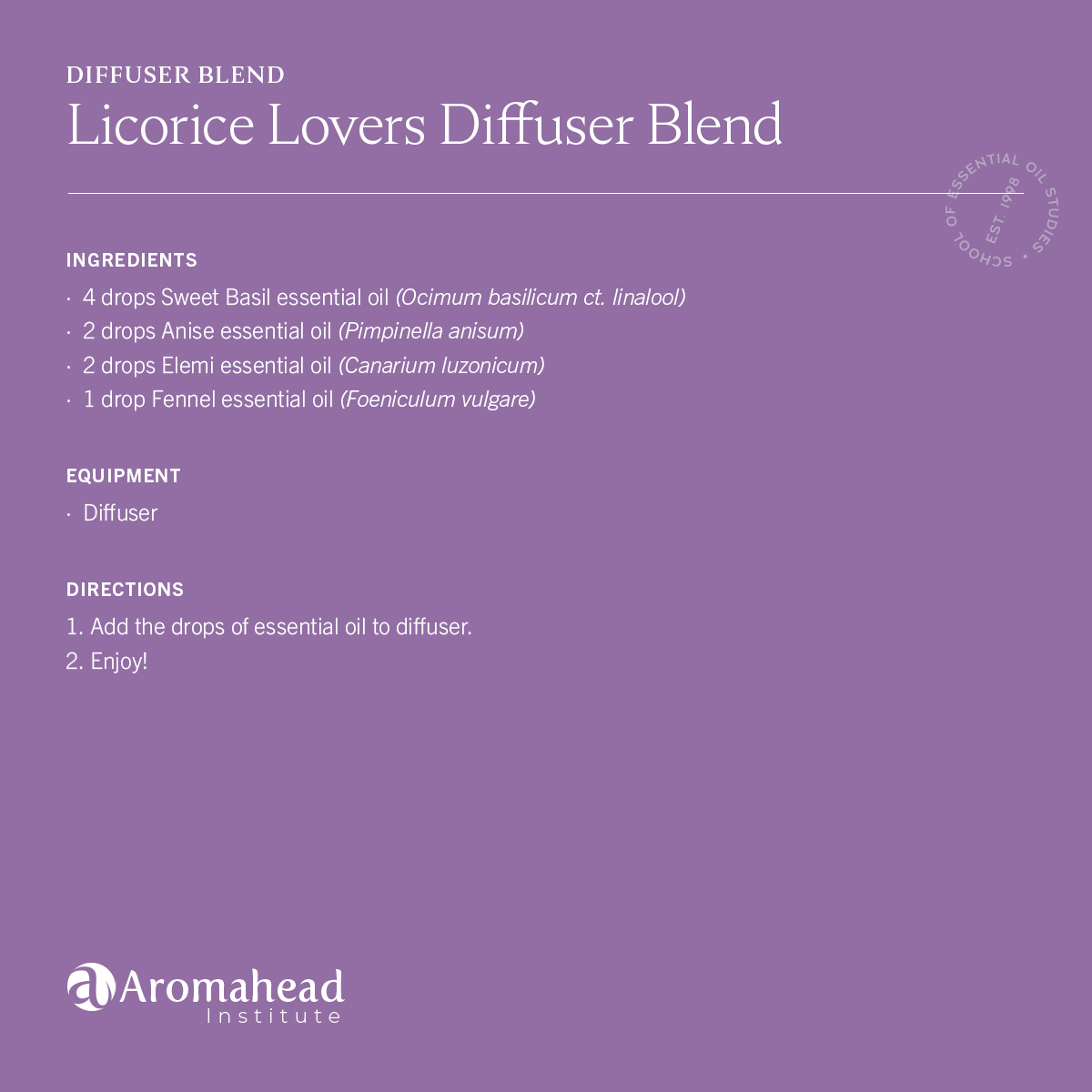 Licorice Lovers Diffuser Blend