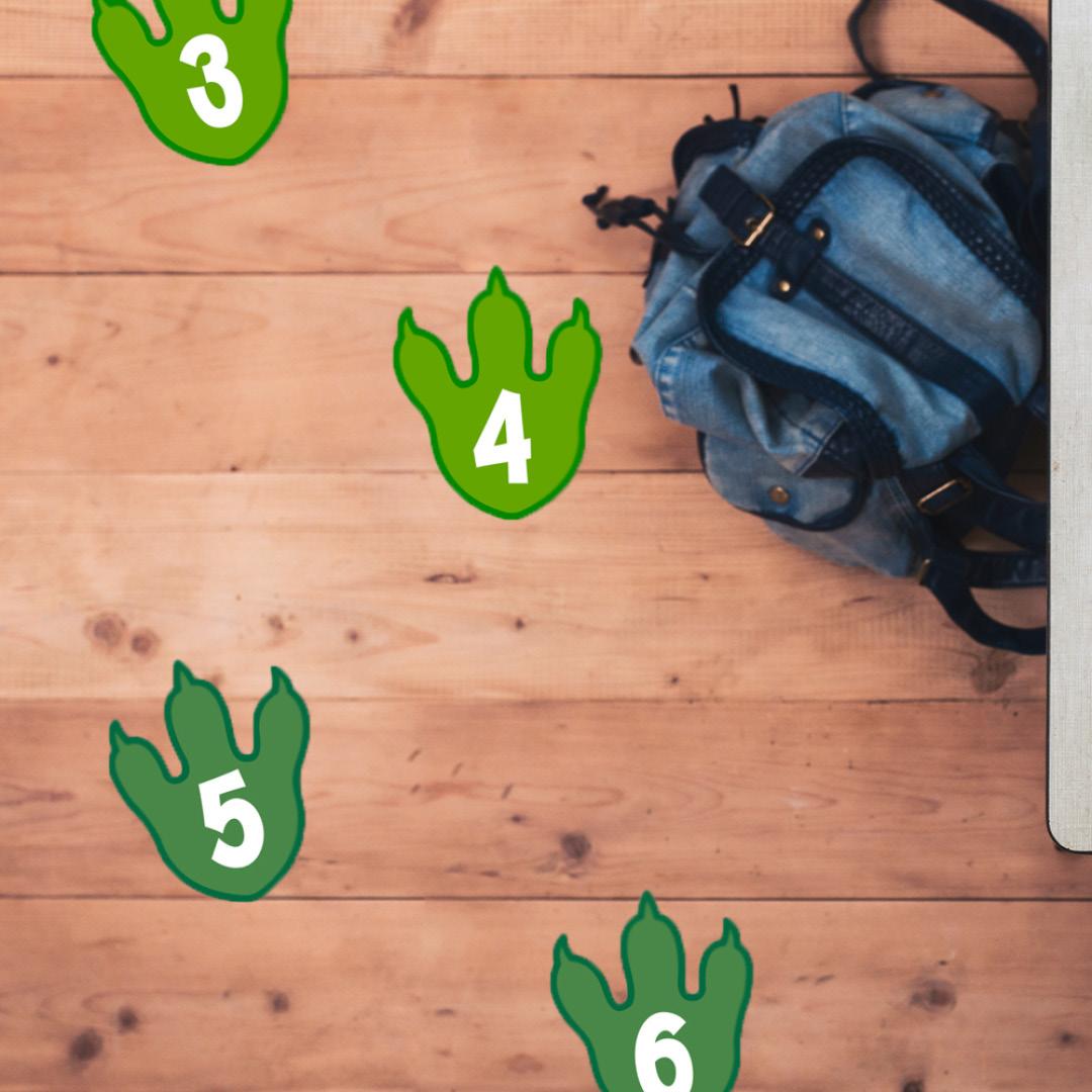 Social distance floor decals