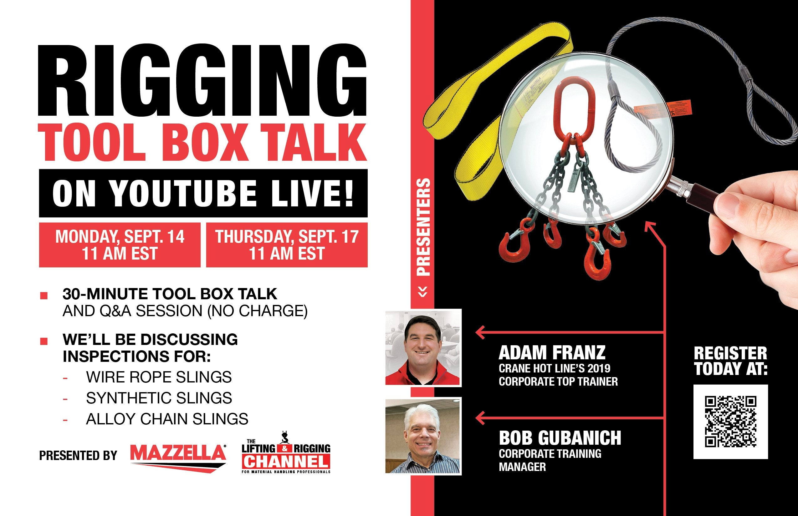 Mazzella Sling Inspection Tool Box Talk 9/14/20 & 9/17/20