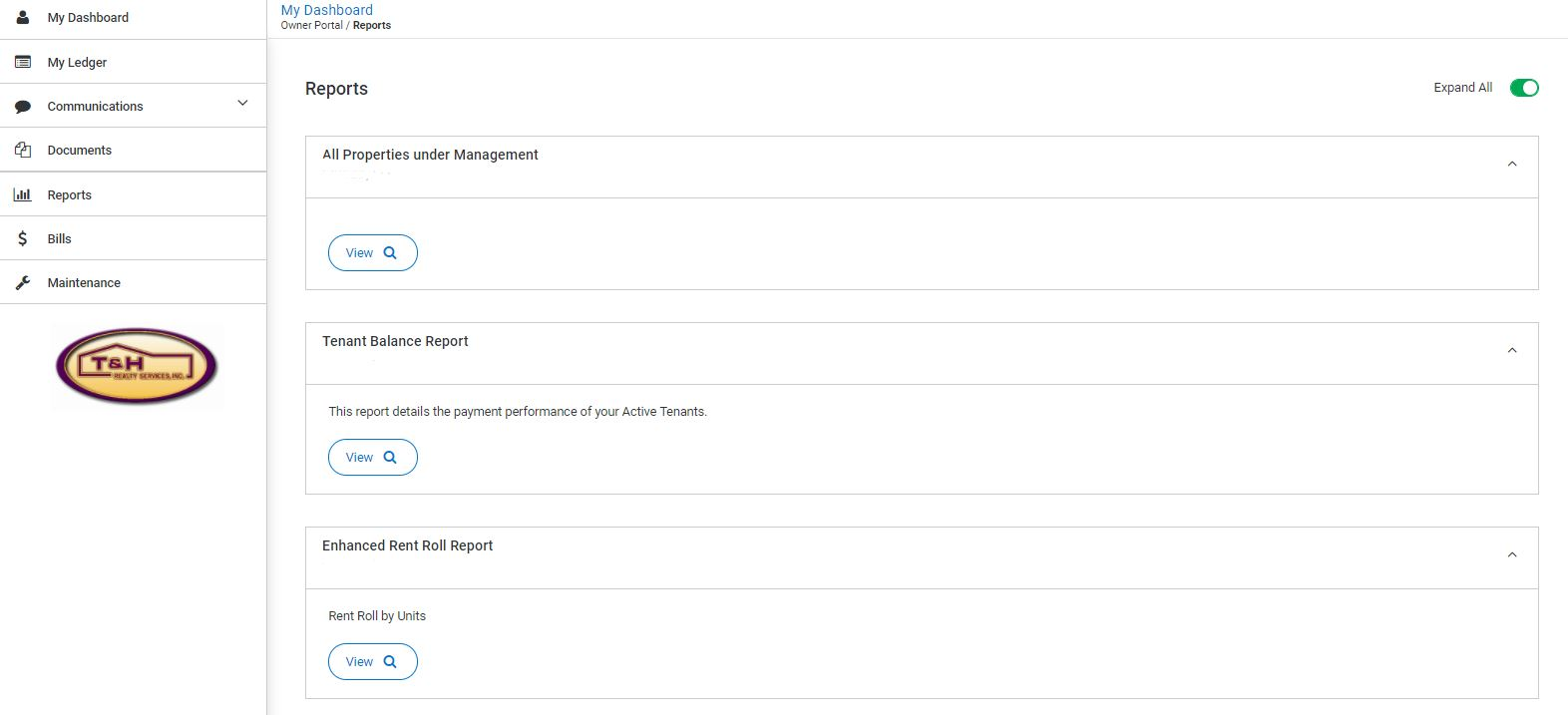 reports owner portal