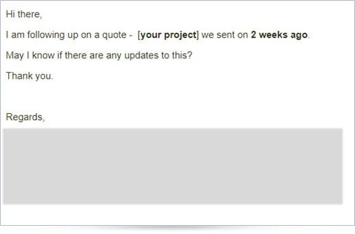 B2B marketing automation follow-up email