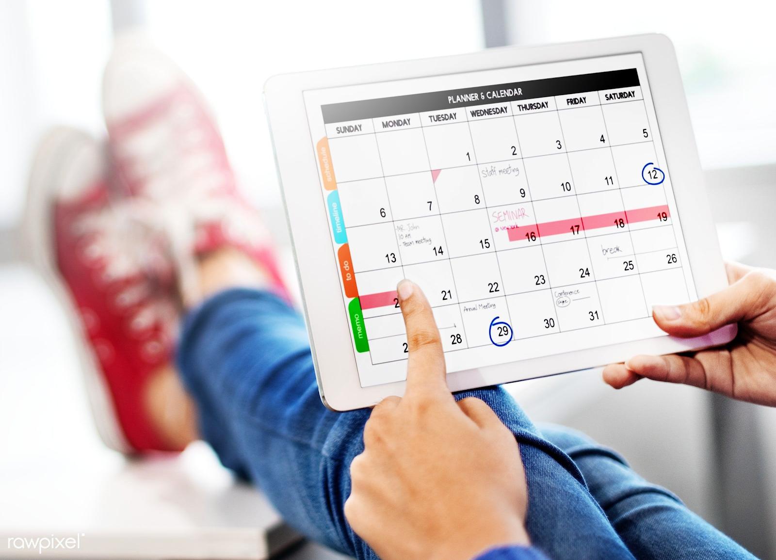 Planning your summer calendar