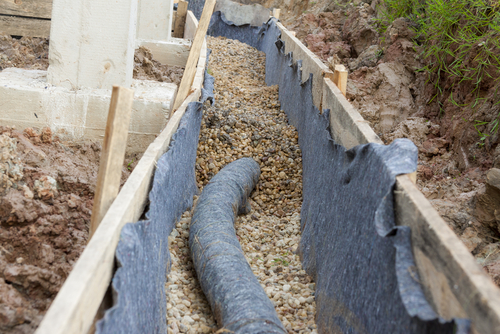 perforated pipe for french drain
