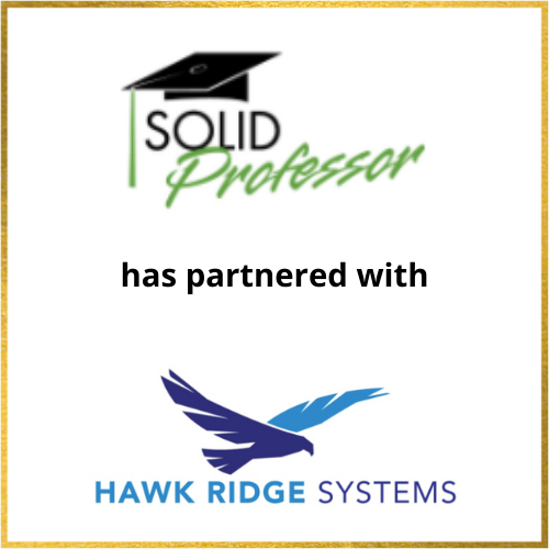 SolidProfessor has partnered with Hawk Ridge Systems