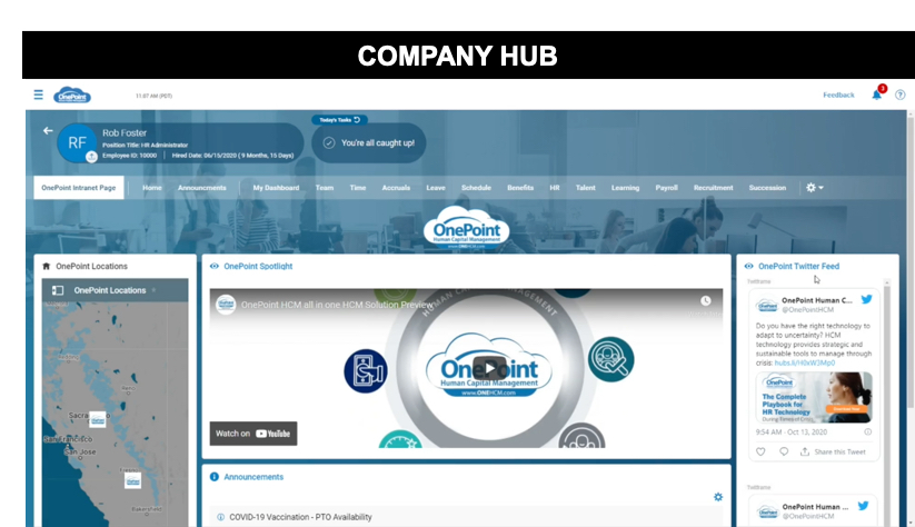 OnePoint Company Hub Intranet