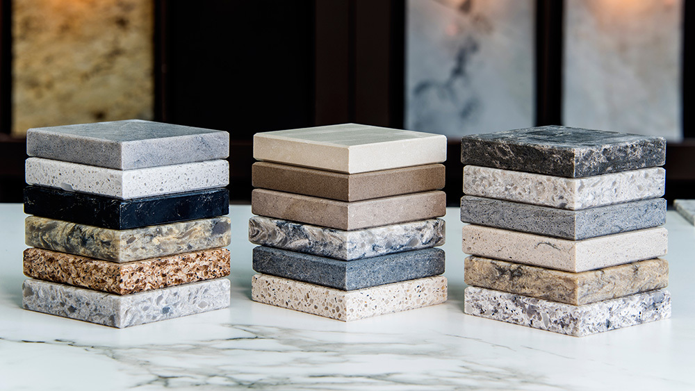 Marble, granite and quartz