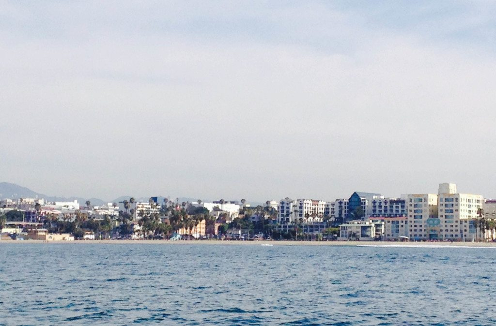 View of Santa Monica from the water