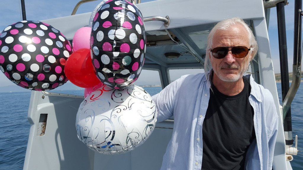 Michael Quill taking down dolphin killers, one balloon at a time