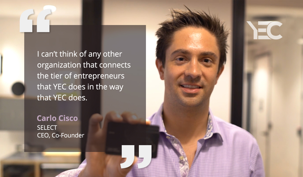 YEC Gives Carlo Cisco Great Friendships and New Business Opportunities