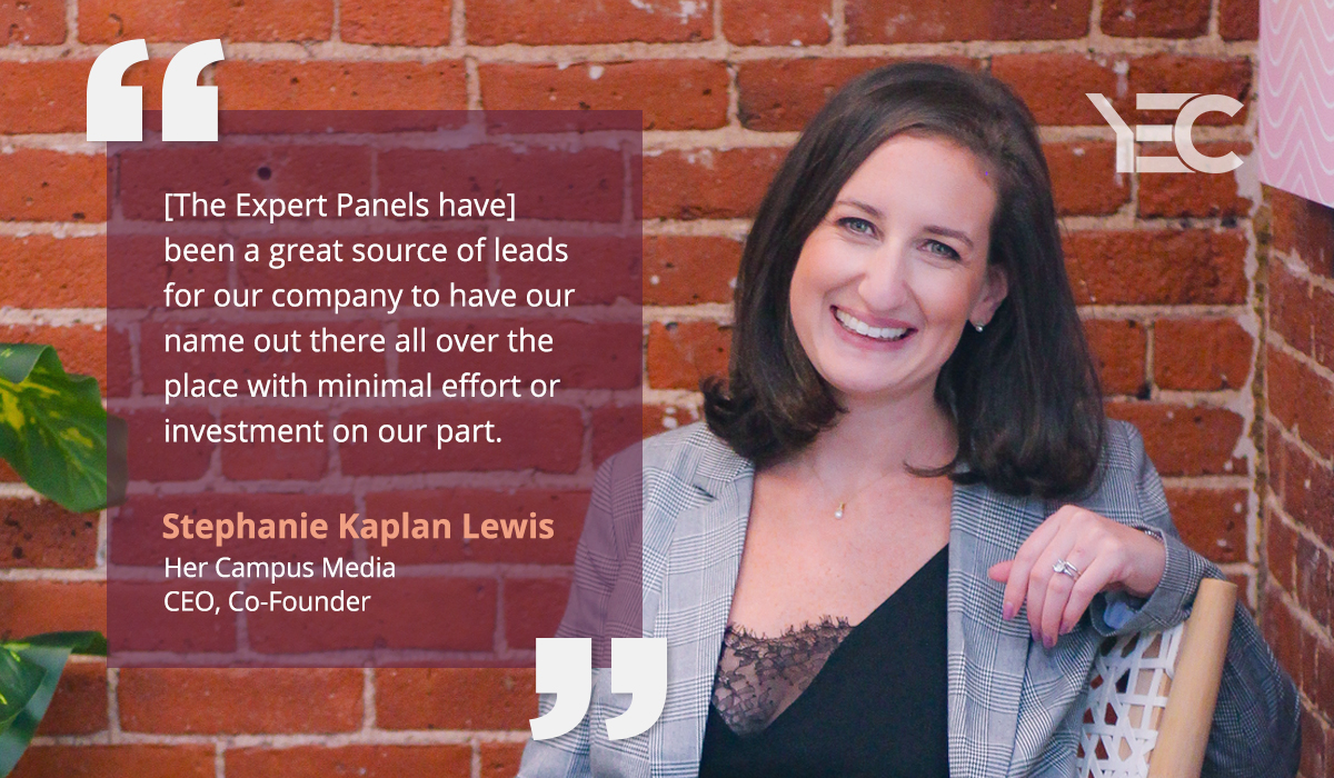 Stephanie Kaplan Lewis Values YEC Visibility Benefits for Growing Her Audience and Business