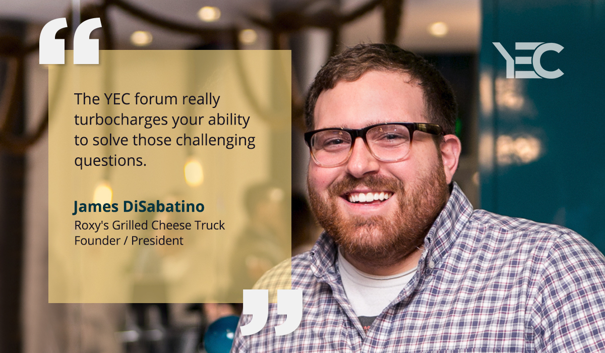 YEC Delivers Connections and Advice Across Industries for James DiSabatino