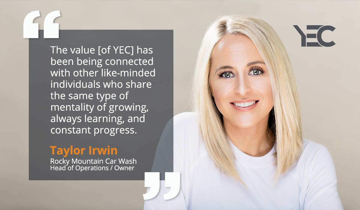 Taylor Irwin Gets Great Tech and Marketing Advice From YEC to Grow Rocky Mountain Car Wash