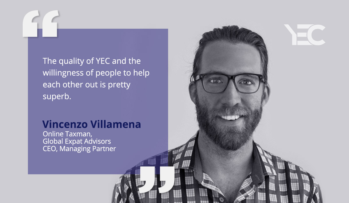 Vincenzo Villamena Lands a Huge Client with Help From YEC Connection