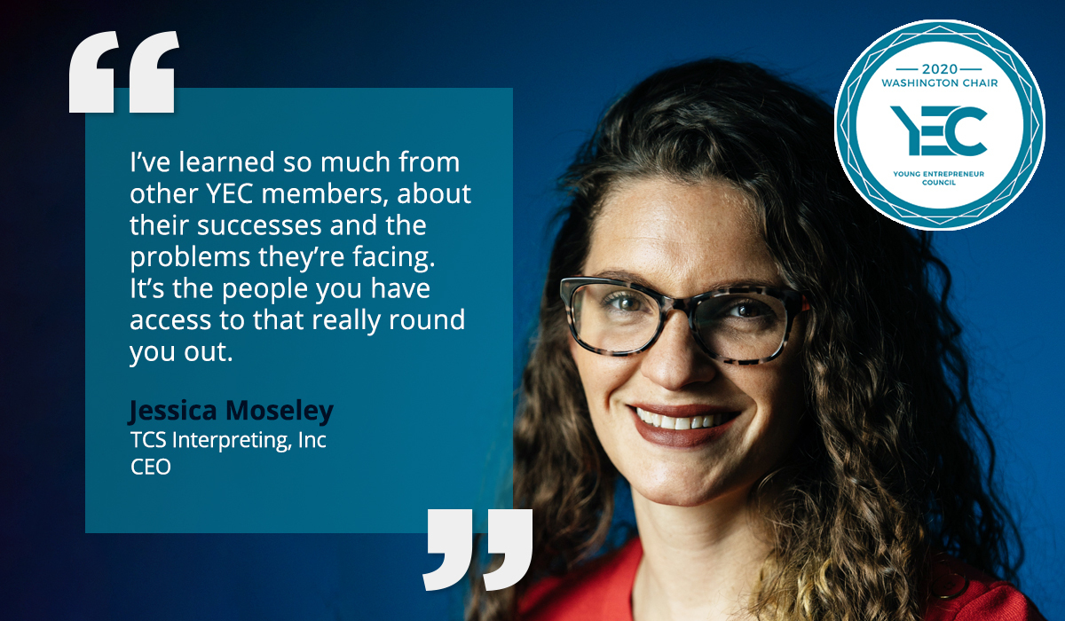 Jessica Moseley is YEC Washington, DC Group Chair