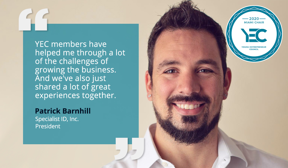Patrick Barnhill is YEC Miami Group Chair