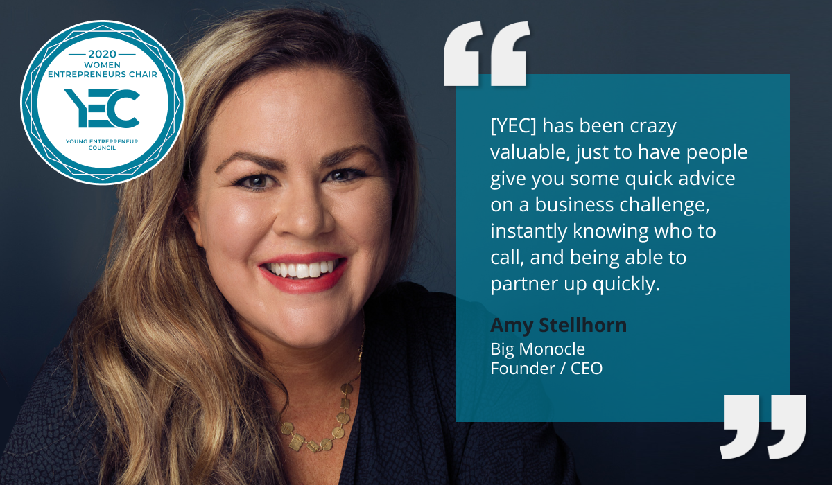 Amy Stellhorn is YEC Women Entrepreneurs Group Chair
