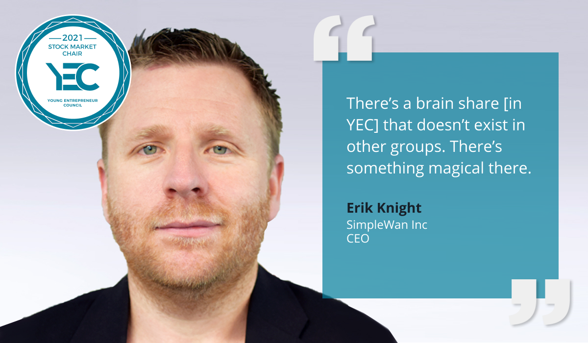 Erik Knight is YEC Stock Market Chair