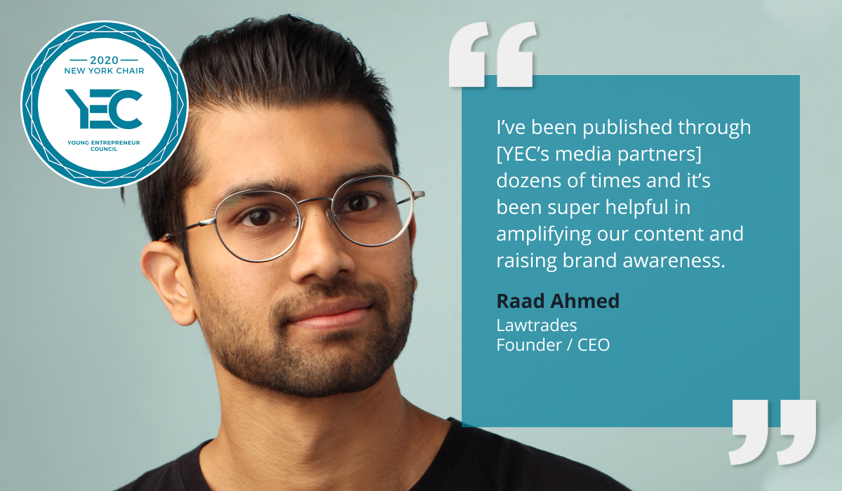 Raad Ahmed is YEC New York Group Chair