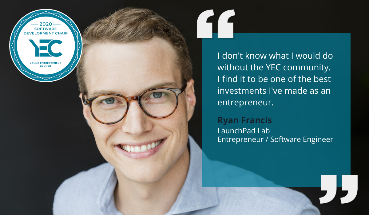 Ryan Francis is YEC Software Development Group Chair